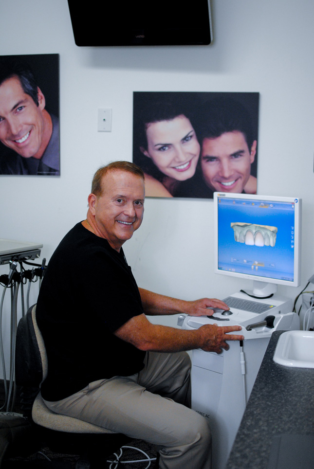 dr. parma working with CEREC